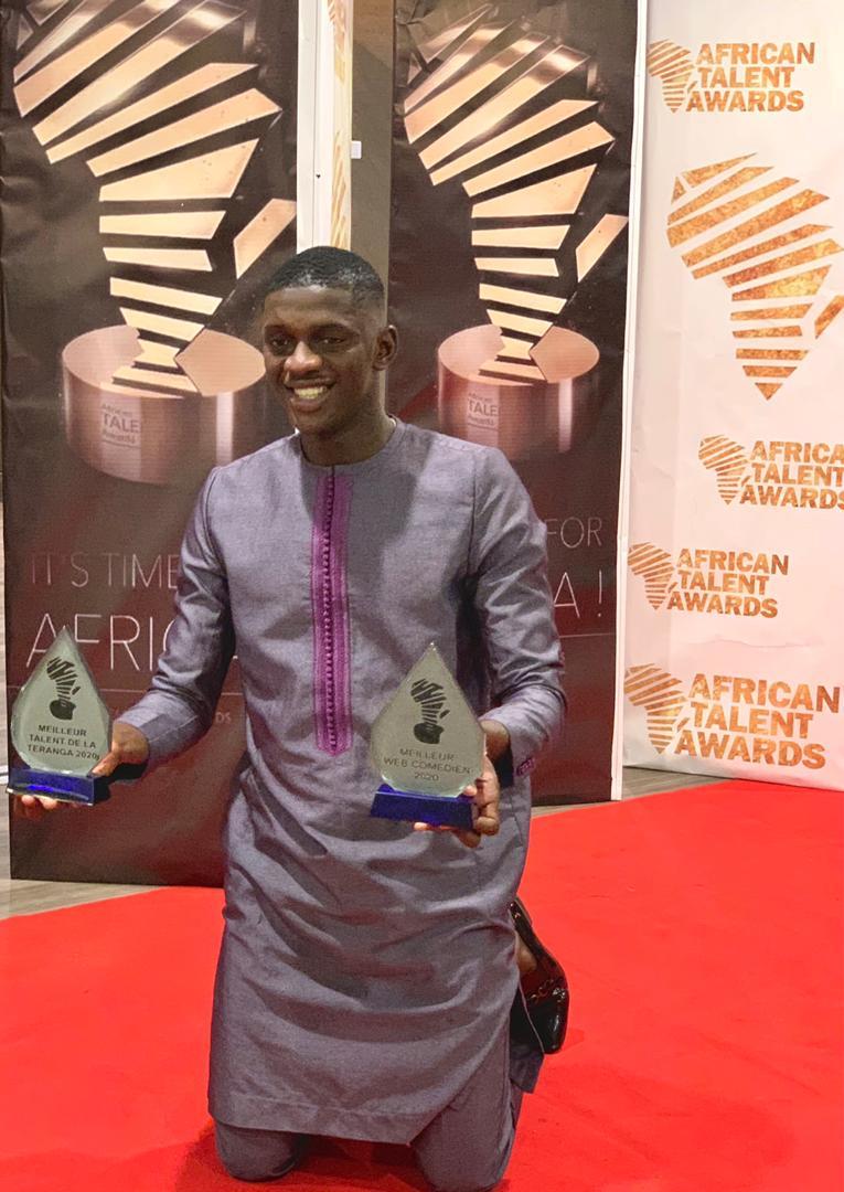 Photo: Jaaw Ketchup, meilleur web comédien africain 2020