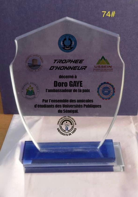 Apaisement de l'espace universitaire: Doro Gaye, encore à l'œuvre, réussit un joli coup
