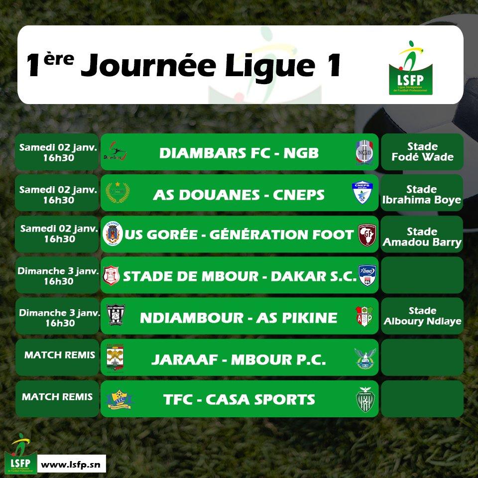 1ère Journée Ligue 1: Le football sort de son confinement, choc Diambars vs Niary Tally