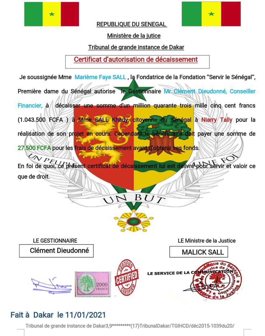 Arnaque sur les réseaux sociaux: L'identité de la Première Dame, Marième Faye Sall, usurpée encore, pour gruger des citoyens sénégalais