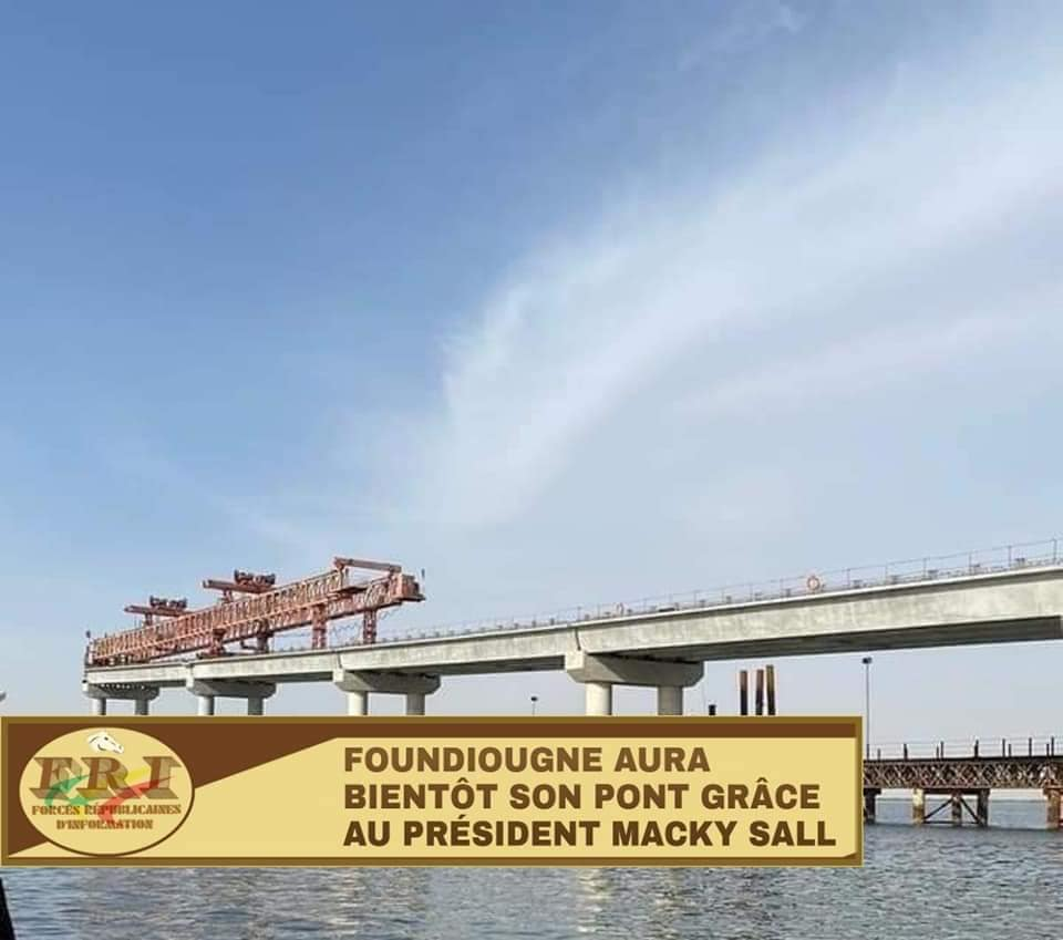 Pont à péage de Foundiougne: Les travaux exécutés à 80 %