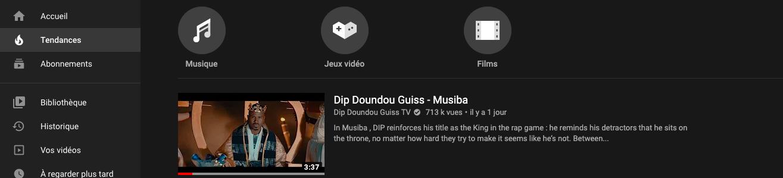 Le nouveau clip de Dip Doundou Guiss en numéro 1 des tendances au Sénégal avec Pepsi