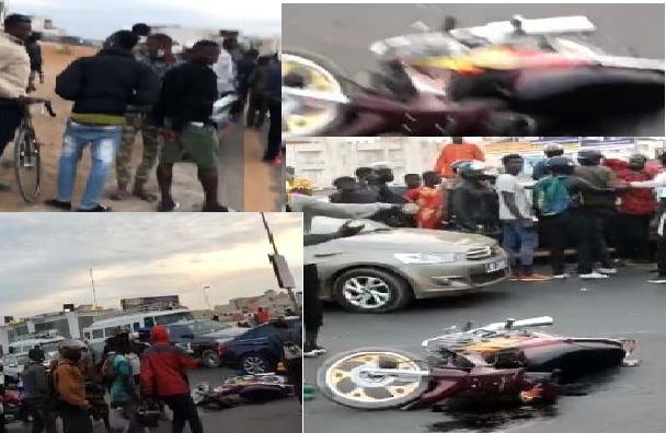 Accident à polémique : heurté par des gendarmes, un motocycliste échappe de peu à la mort
