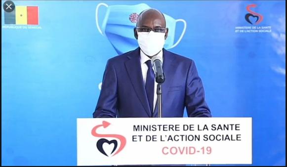 Covid-19: Le Sénégal a enregistré 7 décès supplémentaires, 58 cas graves et 297 nouveaux cas positifs dont 197 cas communautaires