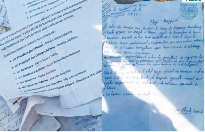 Mfdc: Le contenu édifiant des documents saisis par l'Armée