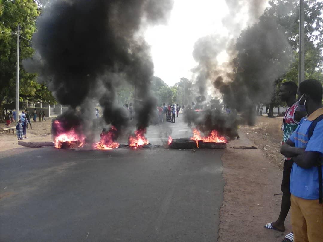 Affaire Ousmane Sonko: Ça chauffe actuellement sur la Rn4, entre Sédhiou et Ziguinchor