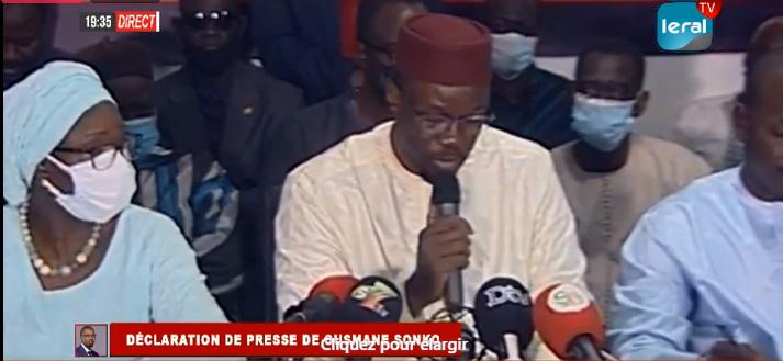 Ousmane Sonko: « Le Sénégal a besoin de génies d'Etat et non de génies politiques »