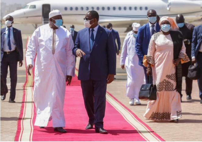 Le président gambien Adama Barrow au Sénégal