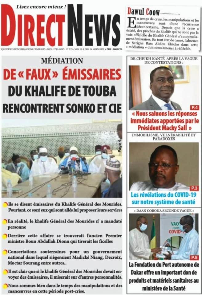 Faux émissaires du Khalife de Touba : Ch. Ab. A. Mbacké Gaïndé Fatma dément Diogaye de  DirectNews