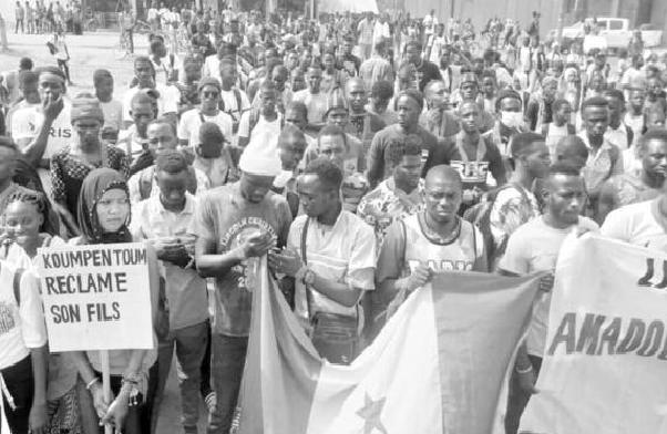 Manifestation à Koumpentoum: Des habitants réclament la libération de l'activiste du Frapp et de ses compagnons