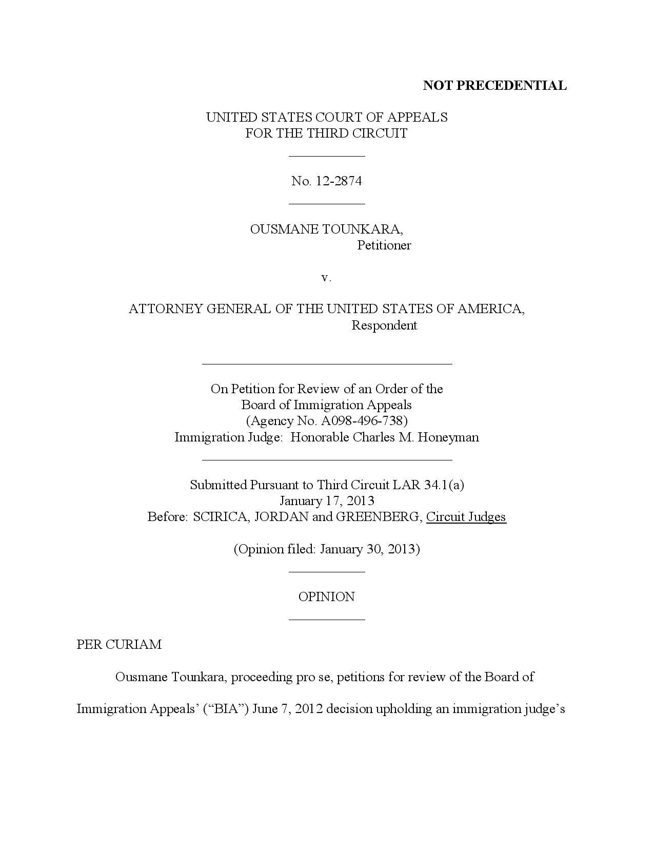 Document exclusif: Ousmane Tounkara est un demandeur d'asile guinéen!