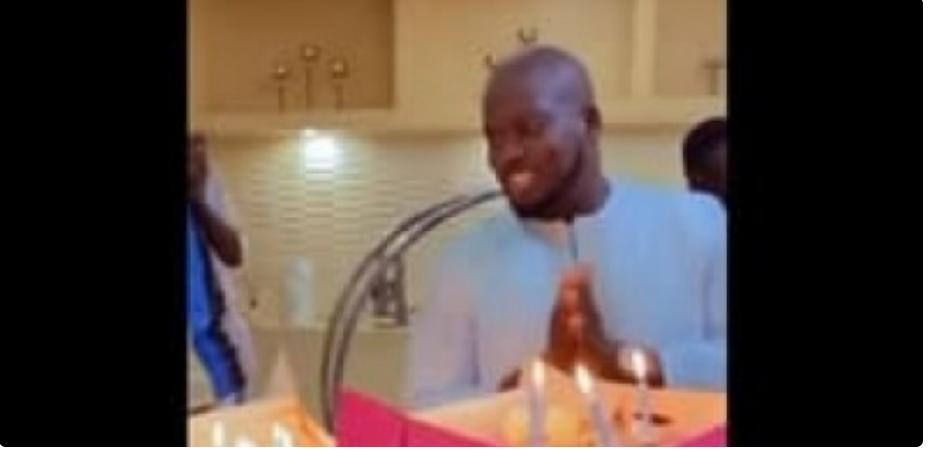 Aziz Ndiaye fête son anniversaire: Découvrez la surprise de son épouse et ses enfants (Vidéo)
