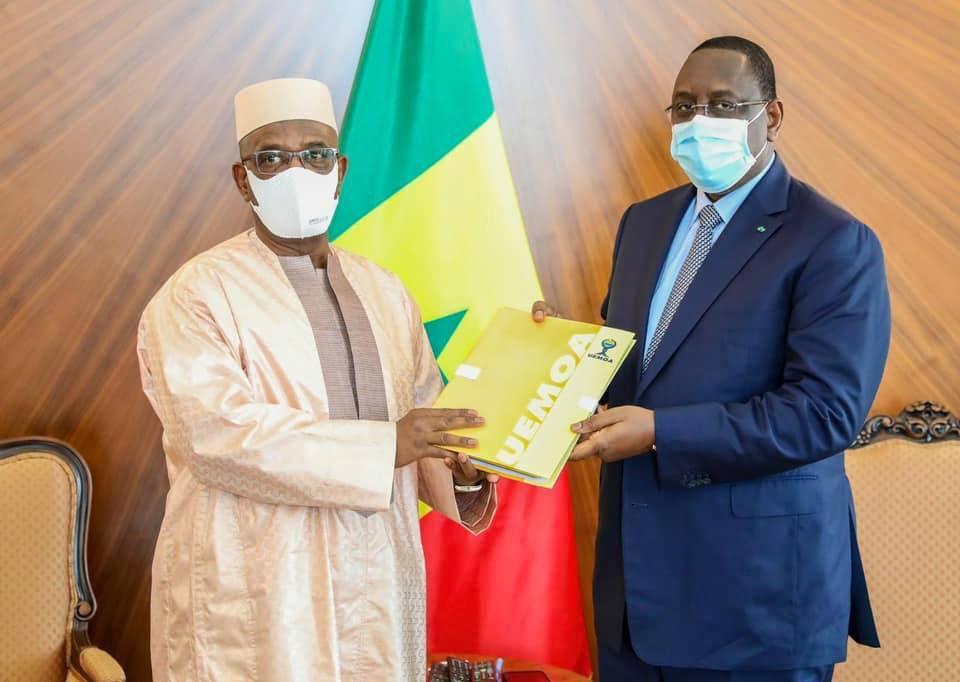 Adieux du Président sortant de la Commission de l'UEMOA : Abdallah Boureïma reçu par le Président Macky Sall