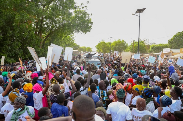 Autre localité , autres images : l'accueil du président Macky Sall à Mbirkilane