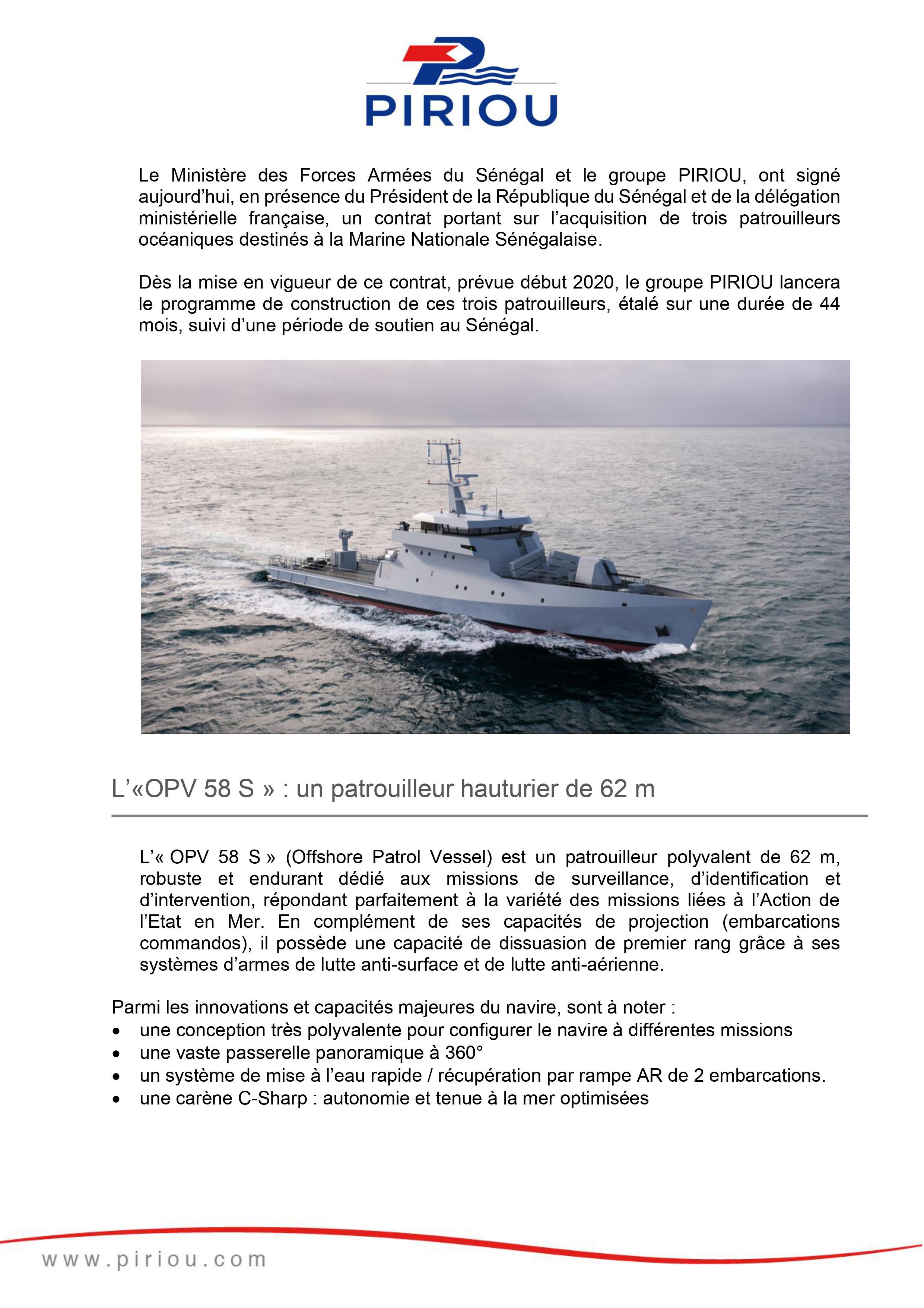 """Fakenews: Le """"Yacht"""" de Macky Sall serait un patrouilleur de la Marine nationale, qui en possède quatre"""