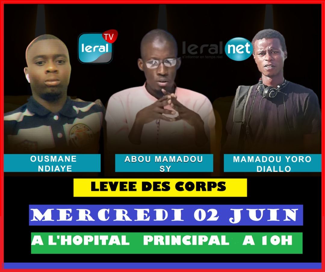 Levée des corps des agents de Leral: Ce sera demain mercredi à 10h, à l'Hôpital Principal
