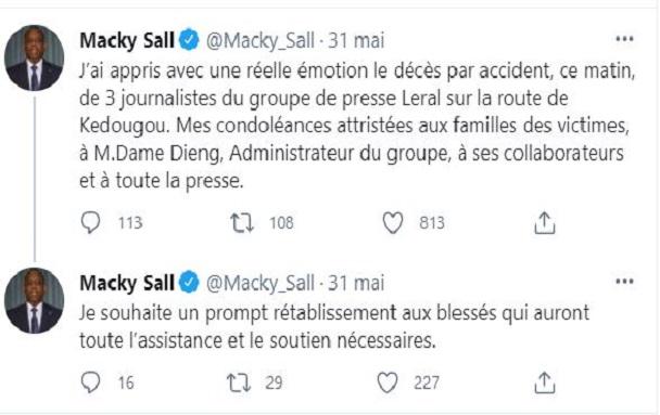 Le Groupe Leral touché par la Grande faucheuse : la solidarité du Président Macky Sall sur twitter