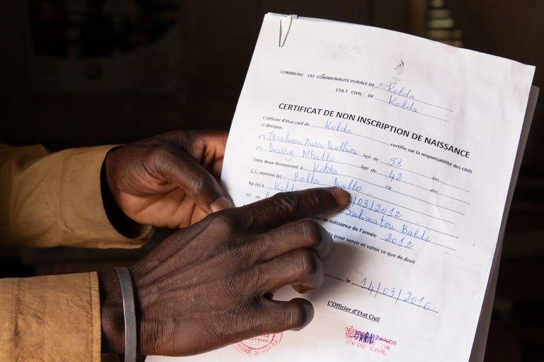Faible enregistrement des déclarations de naissance au Sénégal
