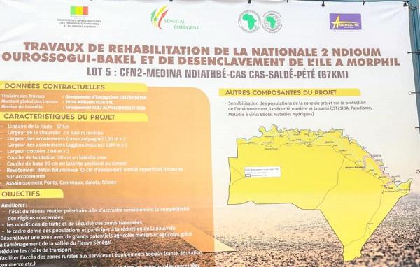 Réhabilitation de la RN2 Ndioum-Ourossogui - Bakel: Le Président Macky Sall a procédé au lancement des travaux