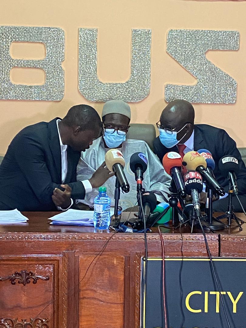 Conférence de presse de l'opposition parlementaire: Les premières images