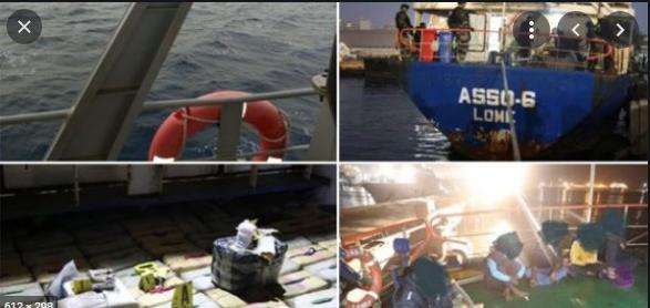 Trafic de drogue: Un navire sans pavillon national et transportant de la drogue (Haschisch), arrêté