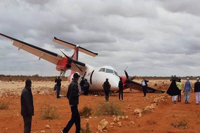 Catastrophe frôlée au Kenya : Crash d'un Dash 8-100 de la compagnie Skyward Express à l'atterrissage…