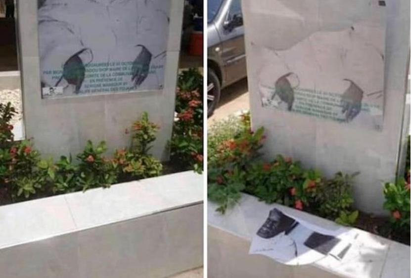 Photos / Allées Serigne Babacar Sy: La stèle portant son effigie, profanée