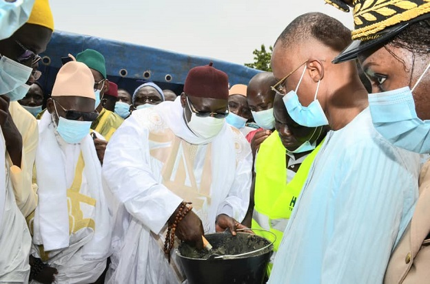 Kaffrine: Le ministre Abdoulaye Saydou Sow a procédé à la pose de la première pierre de la Grande mosquée