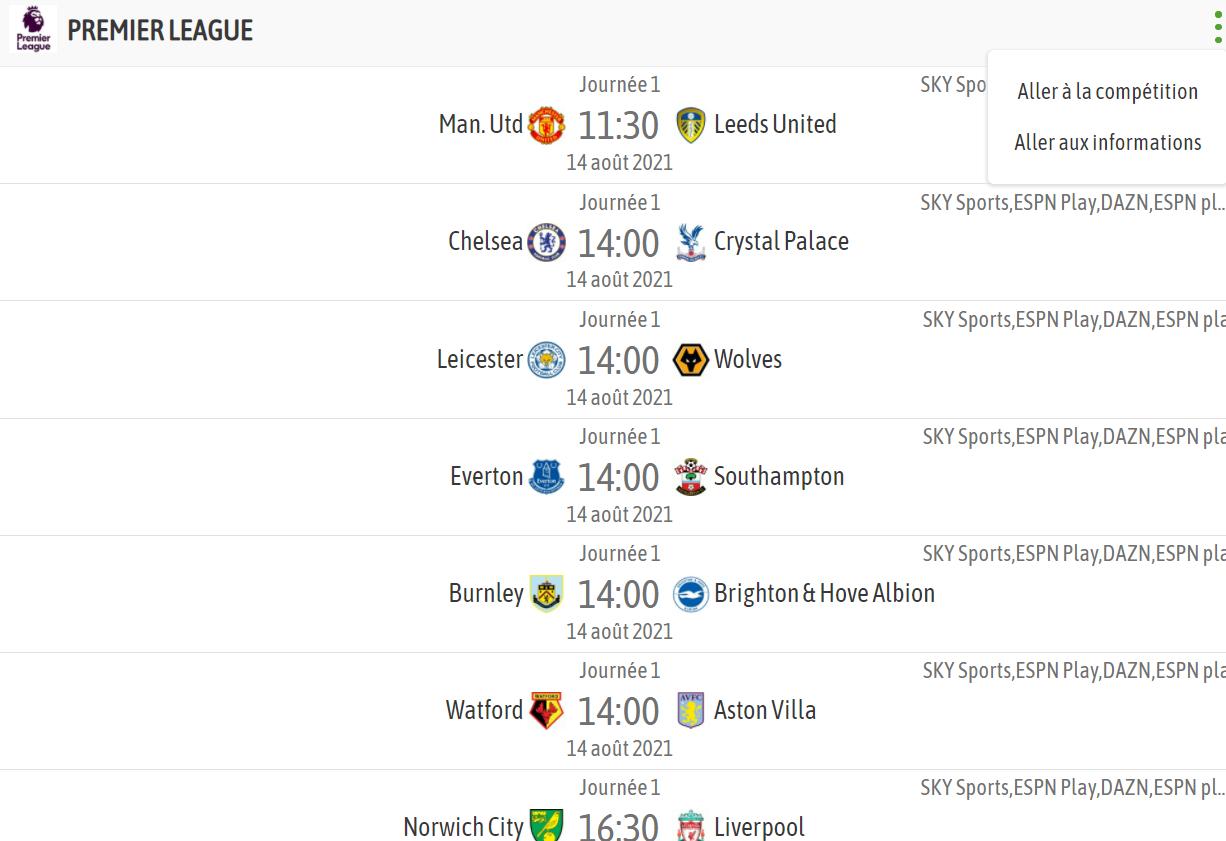 Foot Européen: Le Bayern cale, Arsenal battu par un promu, tout le programme de ce samedi