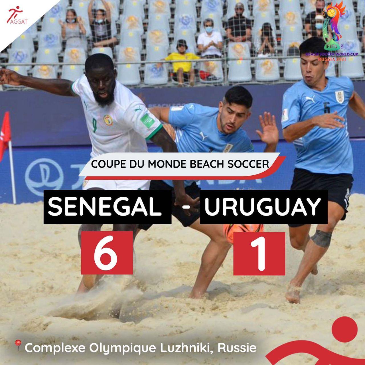 Coupe du monde Beach Soccer: Le Sénégal étrille l'Uruguay par 6 à 1