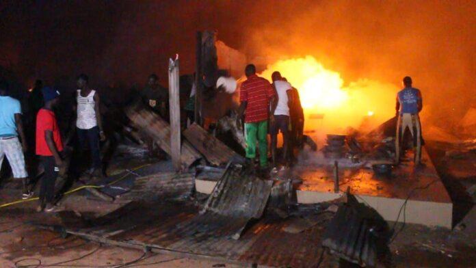 Incendie au Marché central de Kaolack: Des pertes estimées à des millions de FCfa