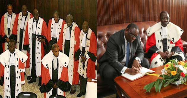 Conseil constitutionnel: Les trois nouveaux membres ont prêté serment