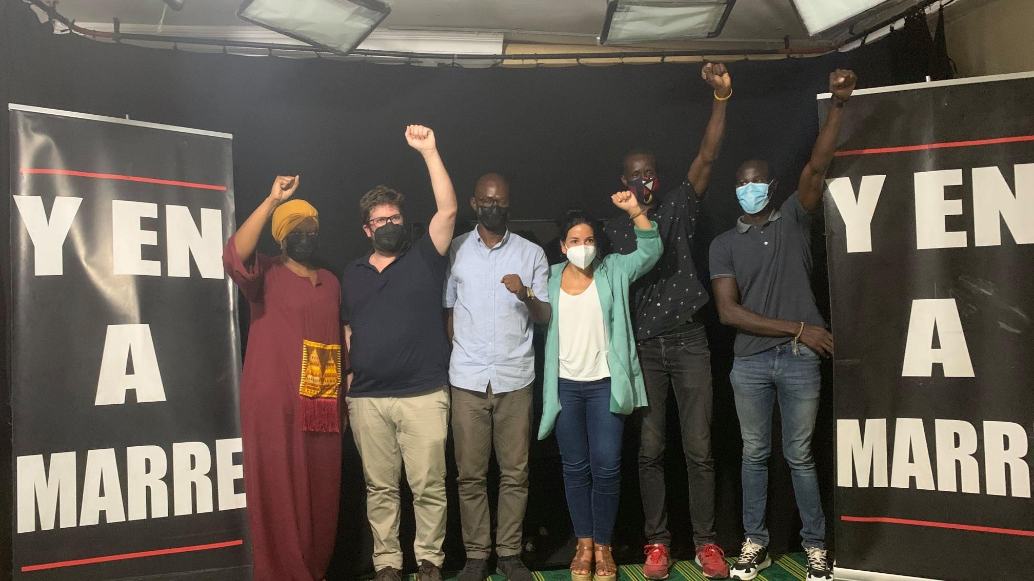Visite d'Eurodéputés et de députés du Parlement de Madrid: Quand Y en a marre prêche contre l'émigration clandestine