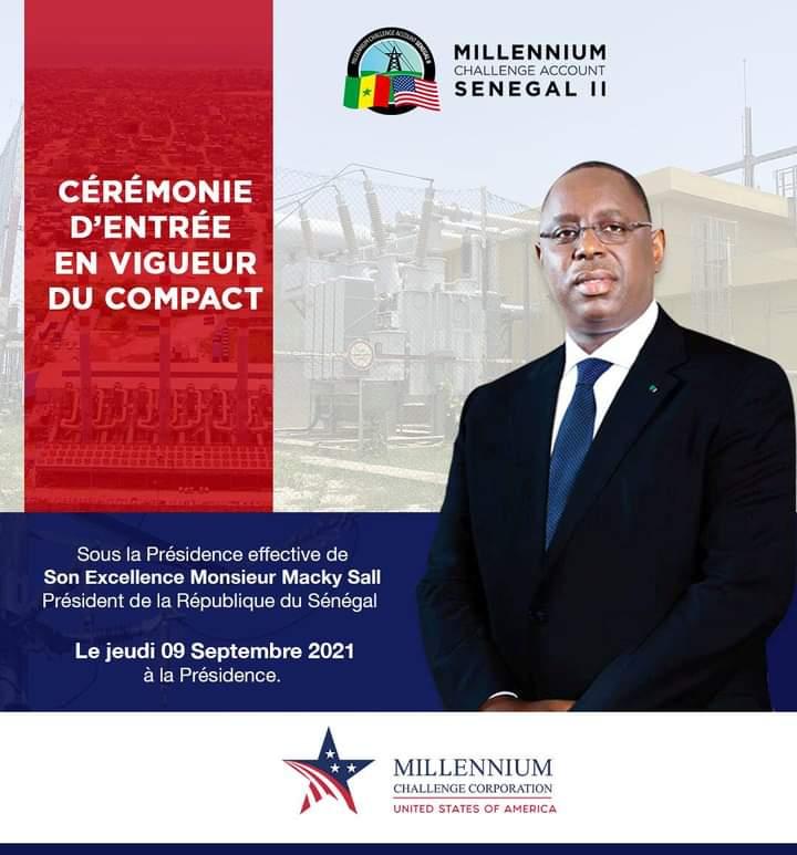 Entrée en vigueur du Senegal Power Compact du Millennium Challenge Corporation: Un programme doté de 330 milliards FCfa