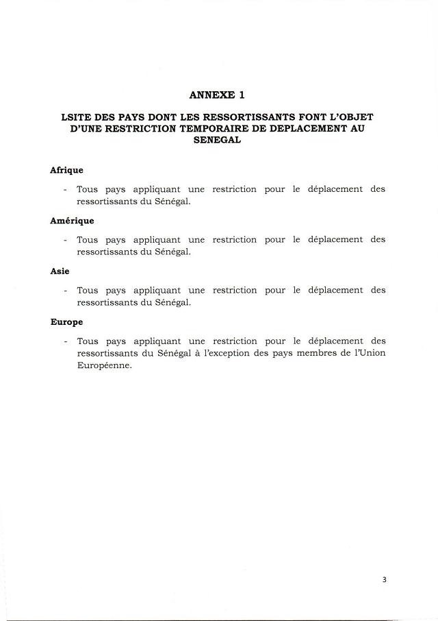 Ouverture de l'espace aérien sénégalais: Le ministère de tutelle redéfinit les conditions, les concernés et non-concernés