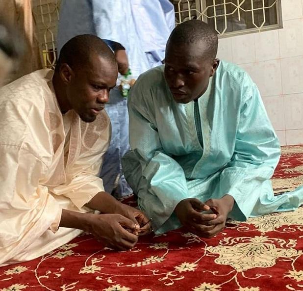 Célébration du Magal: Ousmane Sonko en toute discrétion chez Cheikh Ahmadou Saliou Mbacké, Khalife de Serigne Saliou