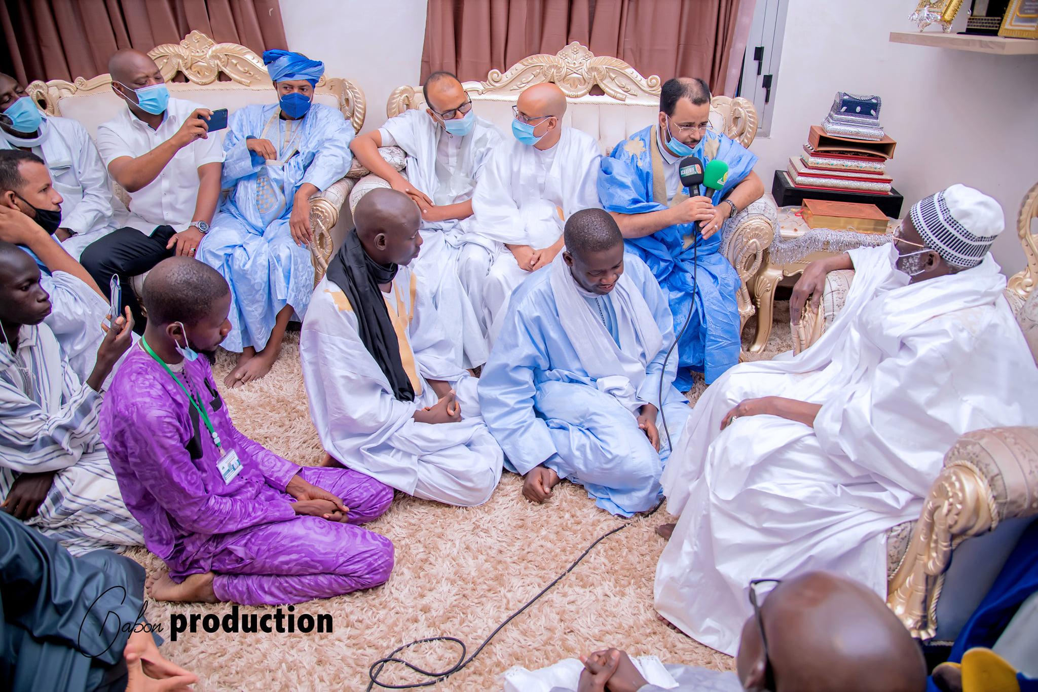 Magal de Touba: En images, la délégation du Président mauritanien reçue par le Khalife général des Mourides