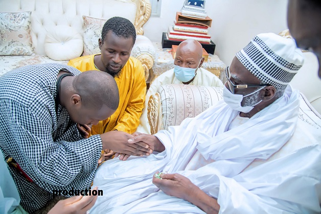 Magal de Touba 2021: La Dahira Mafàtihoul Bichri de la Diaspora reçue par Serigne Mountakha