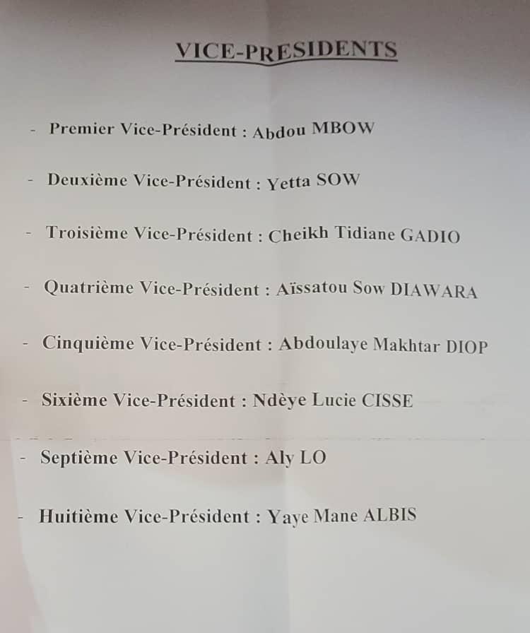 Renouvellement du bureau de l'Assemblée nationale: Voici la liste des vice-présidents