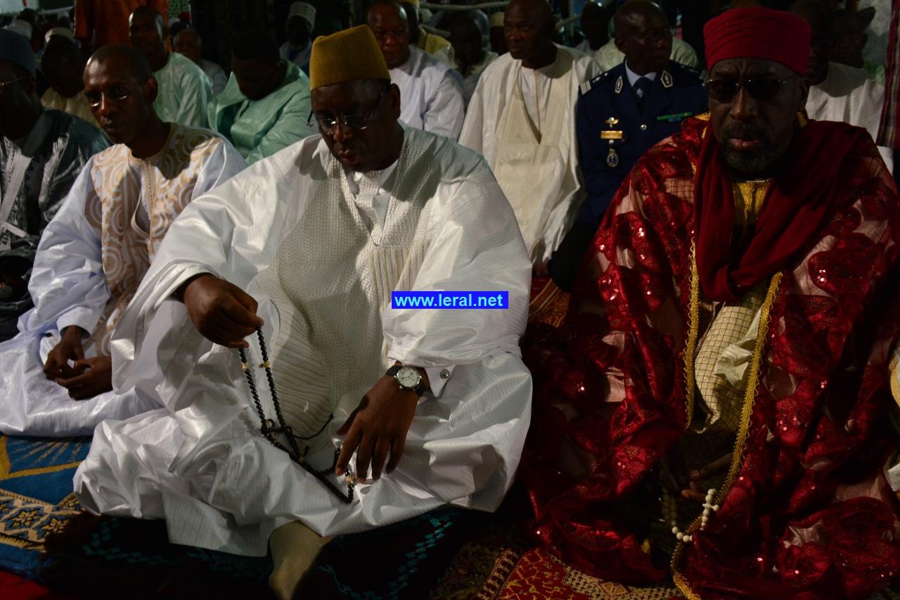 Prière de la Korité à la grande mosquée de Dakar, en présence du Chef de l'Etat Macky Sall