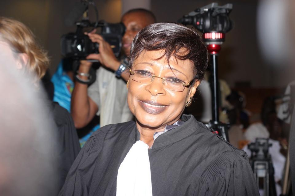 Me Jacqueline Moudeina, l'avocate tchadienne des victimes de Habré, peut afficher le sourire