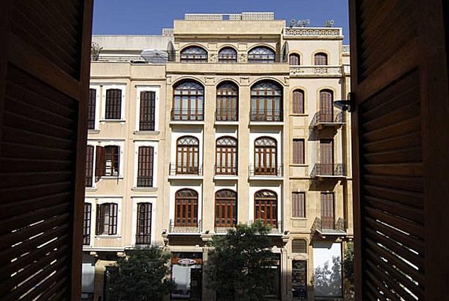 Un immeuble de la rue Foch, dans le centre-ville de Beyrouth, rénové par l'architecte.