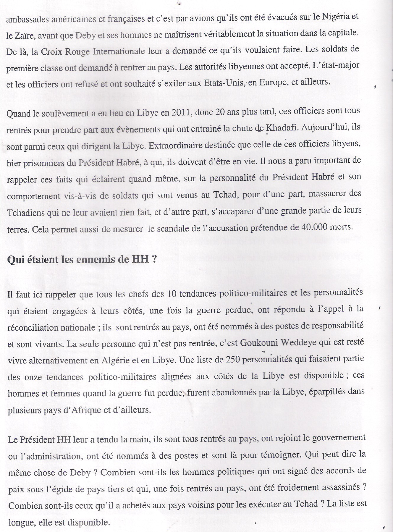 Affaire Habré: Un procès préparé par la Françafrique ?
