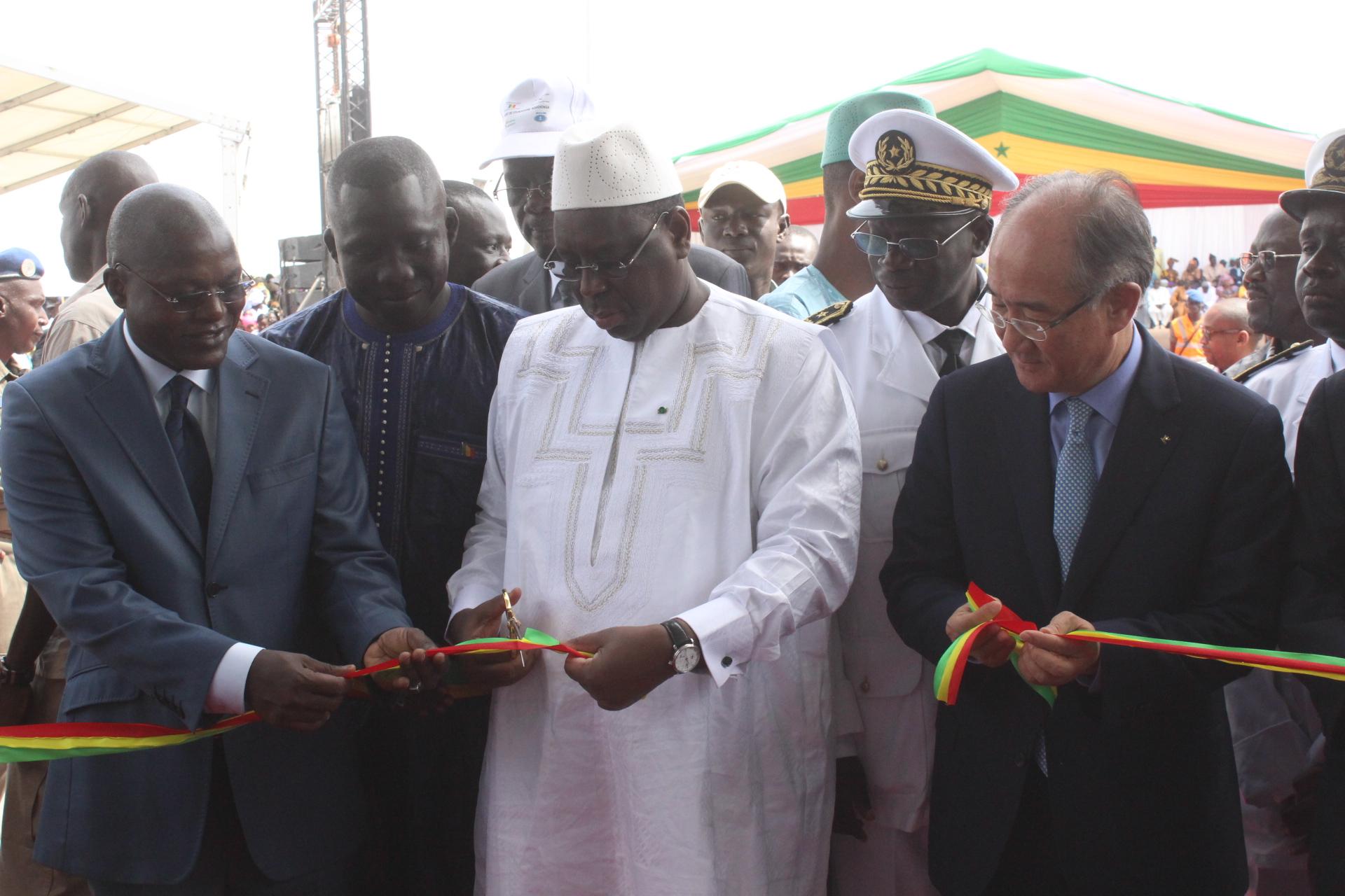 Fatick : Macky Sall inaugure le Port de Foundiougne-Ndakhonga