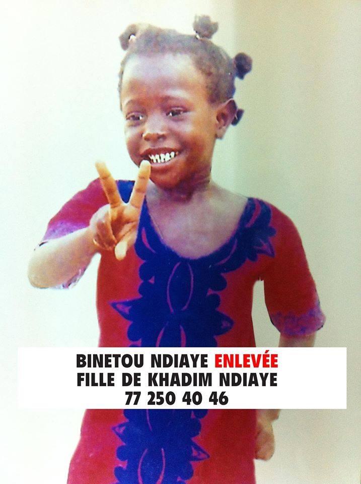 Enlevée à Rufisque, la petite Binetou Ndiaye retrouvée à ...Ziguinchor !