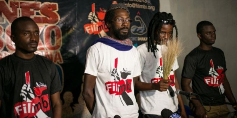 Les deux militants prodémocratiques à la barre le vendredi à Kinshasa