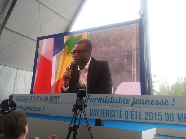 """Université d'été du Medef - Youssou Ndour: """"Maintenant les jeunes africains vont à Istanbul ou Dubaï. Paris ne fait plus rêver"""" (Photos - Vidéo)"""