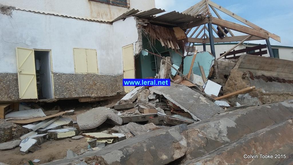 Sendou:  Une dizaine et de maisons détruites par des vagues  (images)