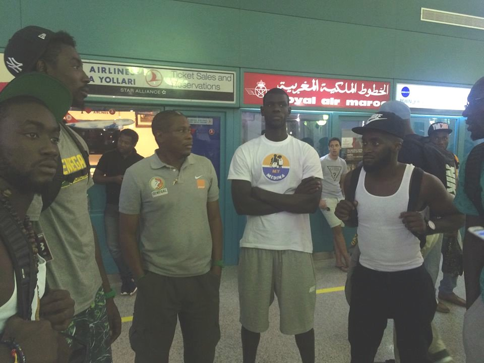 """Bloqués à l'Aéroport de Tunis: Le sale quart temps des """"Lions"""" du basket"""