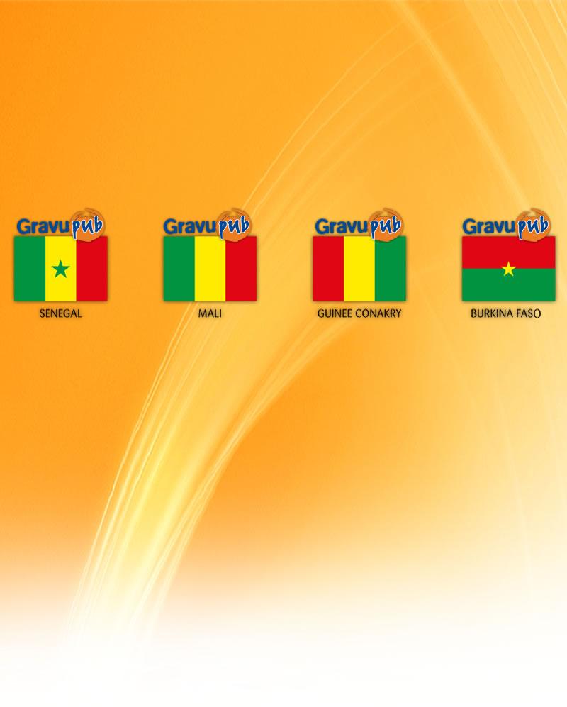 Gravupub est une imprimerie, basée à Dakar, qui exerce dans le domaine de la Publicité et la Commercialisation. Bp. 17344; Dakar. Vous pouvez contacter la société au 33 824 59 13.